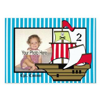 Foto för piratfödelsedagfrakt 12,7 x 17,8 cm inbjudningskort