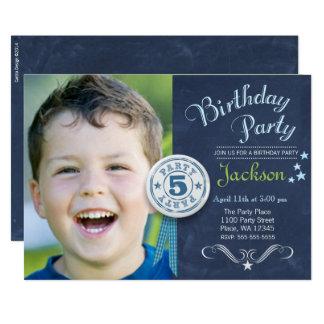 Foto för svart tavla för födelsedagsfest 12,7 x 17,8 cm inbjudningskort