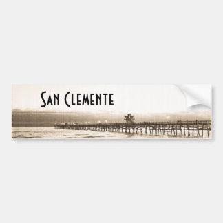 Foto för vintage för San Clemete pirKalifornien Bildekal