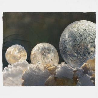 Foto för vinter för djupfryst såpbubblais Crystal Fleecefilt