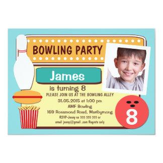 Fotobowlingfödelsedagsfest inbjudan