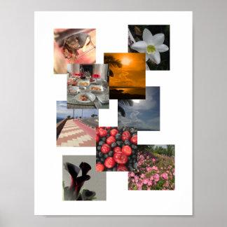 FotoCollage med ingen gränsdesign Poster