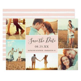 FotoCollagespara persikan för dateralägenhetkort | 12,7 X 17,8 Cm Inbjudningskort