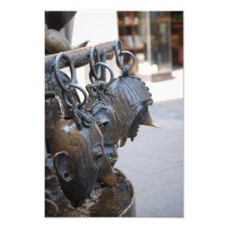 Fotoet av maskerar statyer fototryck