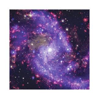 Fotoet för fyrverkerigalaxrymden canvastryck