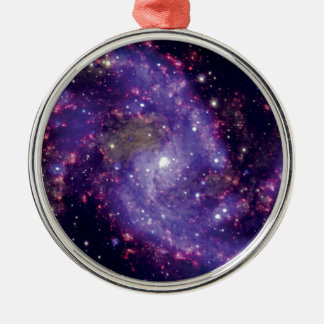 Fotoet för fyrverkerigalaxrymden julgransprydnad metall