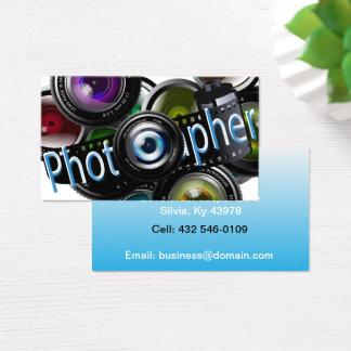 Fotograf - blått visitkort