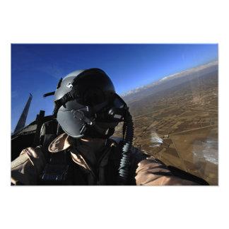 Fotograf för strid för US-flygvapen flyg- Fototryck