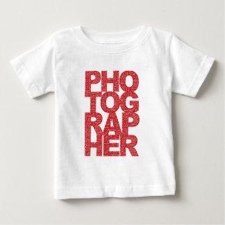 Fotograf - röd text tshirts