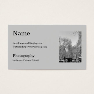 Fotograf visitkortmall visitkort