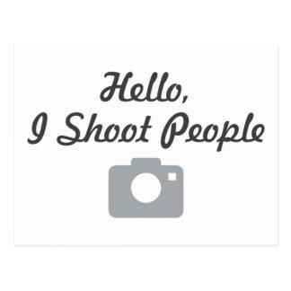 Fotografbefordranhejer, skjuter jag folk vykort