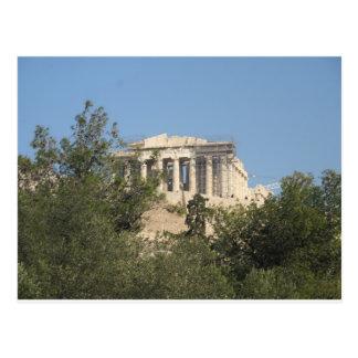 Fotografera av den forntida grekiska parthenonen vykort