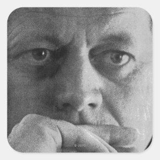 Fotografera av John F. Kennedy Fyrkantigt Klistermärke