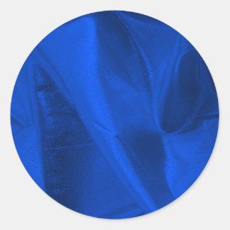 Fotografera av metalliska blått Lame Runt Klistermärke