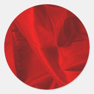 Fotografera av metalliska röda Lame Runt Klistermärke