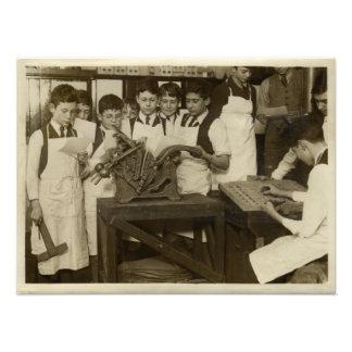 Fotograferar historisk boktryck för vintage fototryck