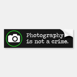 Fotografi är inte ett brott bildekal