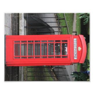 Fotografi av det röda London mobila båset