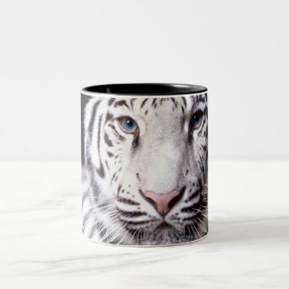 Fotografi för vitBengal tiger Två-Tonad Mugg