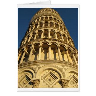 Fotografi italien, Pisa, torn Hälsningskort