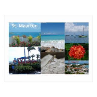 FotografiCollage för St. Maarten-Sint Martin Vykort