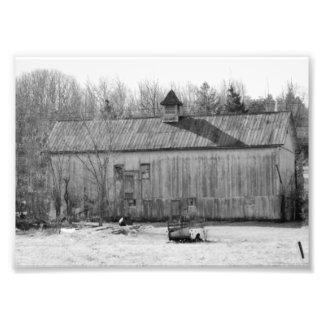 Fotografiskt tryck för svart- & vitvintage 7x5