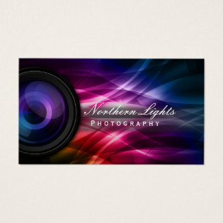 Fotografkamera Lens & aurorafotografi Visitkort