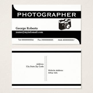 Fotografkamerasvart, modern vit visitkort