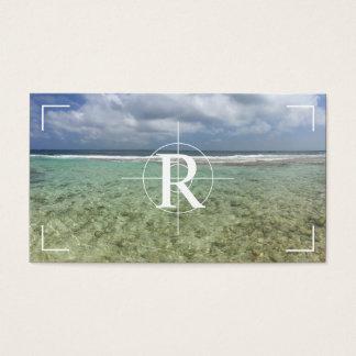 FotografMonogramfotoet ställer ut fotografi Visitkort