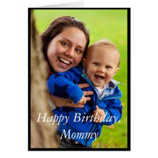 Fotograttis på födelsedagenmammor - hälsningkort hälsningskort