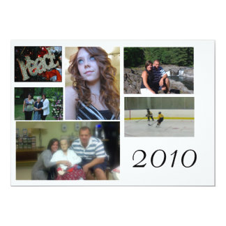 fotokort, collage, 12,7 x 17,8 cm inbjudningskort