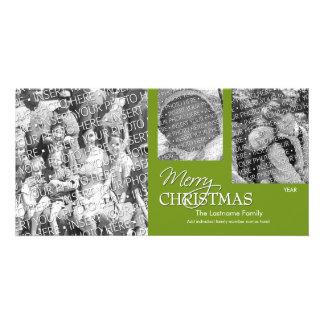 Fotokort: För god jul grönt enkelt Fotokort