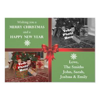 fotokort för jul 5x7 12,7 x 17,8 cm inbjudningskort