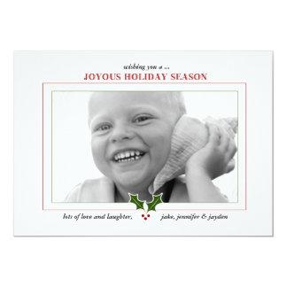 fotokort för julhelg 311-Joyous 12,7 X 17,8 Cm Inbjudningskort