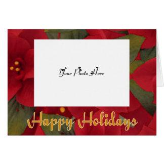 fotomall, julstjärnaram hälsningskort