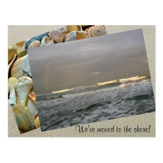 Fotomall som flyttar sig till kustvykortet vykort