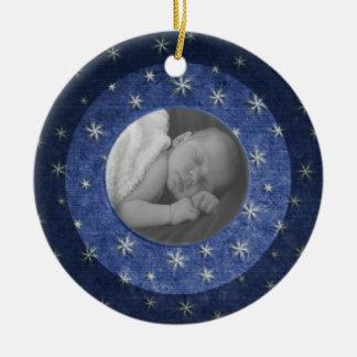 Fotominnessak för Starry natt Julgransprydnad Keramik