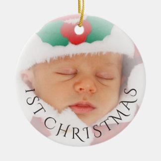 Fotoprydnaden överdrar den | baby 1st jul julgransprydnad keramik