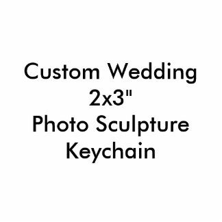 """Fotoskulptur Keychain för personligt bröllp 2x3"""""""