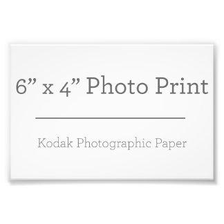Fototryck för anpassningsbar 6 x 4