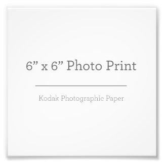 Fototryck för anpassningsbar 6 x 6