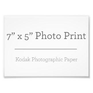 Fototryck för anpassningsbar 7 x 5