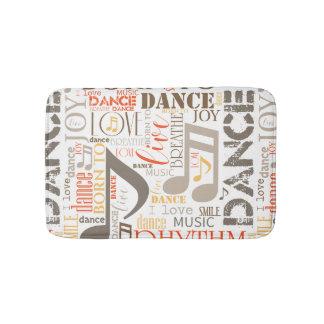 Fött att dansa brun ID277 Badrumsmatta