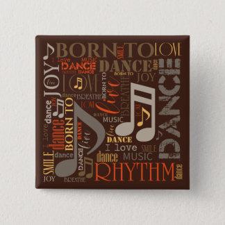 Fött att dansa brun ID277 Standard Kanpp Fyrkantig 5.1 Cm