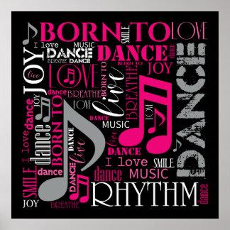 Fött att dansa rosor ID277 Poster