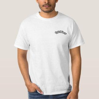 Fött att fiska t shirts