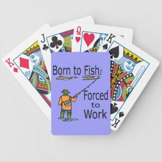 Fött att fiska tvunget för att fungera svart spelkort