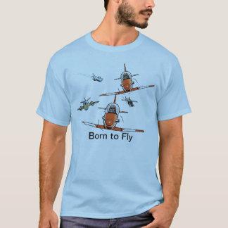 Fött att flyga flygareT-tröja T Shirt