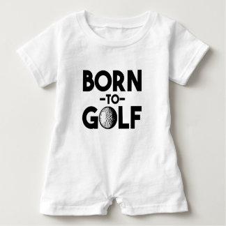 Fött att golf den roliga pojkeskjortan tee shirt
