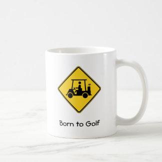 Fött att golf kaffemuggen kaffemugg